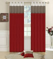 ... Drop Dead Gorgeous Accessories For Window Treatment Decoration Using  Modern Red Curtain : Stunning Image Of ...