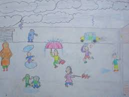 five best drawings of rain by children of taiyyebiyah school rain water by ummey