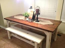 Beautiful Rustic Kitchen Table With Bench Of Tables Benches 48