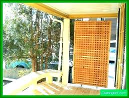 apartment patio privacy ideas screen outdoor curtains shade covers