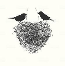 2 つの鳥の巣作りの跡取り お祝いのベクターアート素材や画像を多数ご