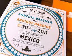 mexican wedding invitations. orange-blue-modern-mexico-wedding-invitation mexican wedding invitations