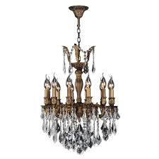 worldwide lighting versailles collection 12 light antique bronze clear crystal chandelier