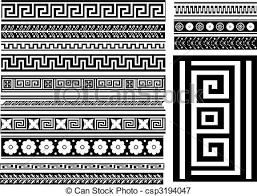 Different Types Of Patterns Stunning Different Types Of Seamless Greek Patterns