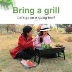 <b>Large Foldable Barbecue Grill</b> Portable Charcoal Grill Outdoor ...