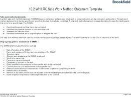 Safe Work Method Statement Template Free Nsw – Pumpedsocial