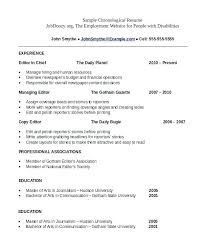 Chronological Sample Resume Best Of Examples Of Chronological Resumes Chronological Resume Example