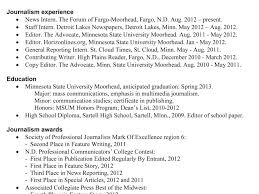 Journalist Resume Sample | Diplomatic-Regatta