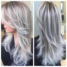 Gray Hair With Brown Lowlights Google