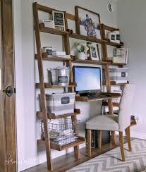 dual desk bookshelf small. Leaning Wall Ladder Desk Dual Bookshelf Small A