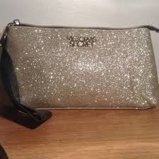 victoria s secret glitter cosmetic bag