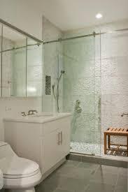 white bathroom glass shower designs
