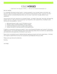 Experienced Teacher Cover Letters Education Cover Letters Cover Letter Education Teacher Special