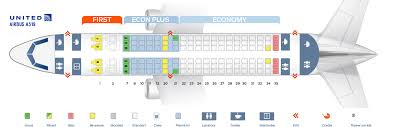 Airbus A319 Seating Chart Seat Map Airbus A319 100 United Airlines Best Seats In Plane
