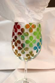 hand painted wine glass class art by tjm