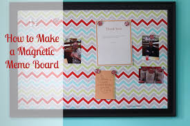 How To Make A Magnetic Memo Board Mesmerizing Detailed Tutorial On How To Make A Magnetic Memo Board DIY Love