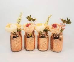 mercury glass vase wedding decor bridal shower decorations wedding centerpiece baby shower decor rose gold candle holder set of 4