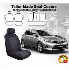 custom made seat covers suits toyota corolla hatch ascent zre182r 10 2016 on 9314250066947