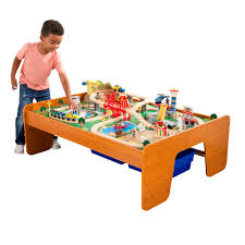 roll over image to zoom larger image kidkraft ride around town train set table