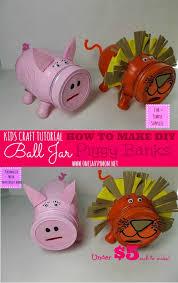 kids craft tutorial how to make ball mason jar piggy banks for under 5