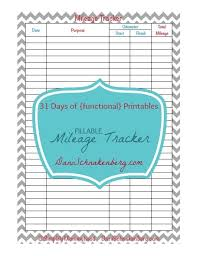 business mileage tracker 31 days of functional printables mileage tracker best from big