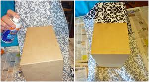 Paper Mache Boxes To Decorate Wedding Card Box 60 Tier Fabric Covered Crafts Unleashed 31