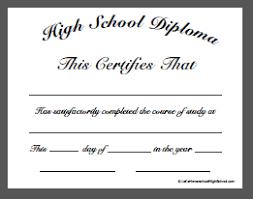 homeschool high school diploma templates  high school diploma template doc 2