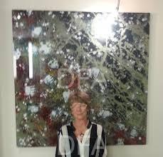 reverse acrylic painting on plexi glass