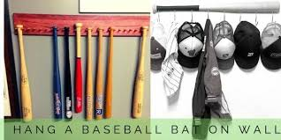 how to hang a baseball bat on the wall