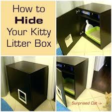 litter box furniture diy hide a cats litter box in a kitty litter cabinet diy litter