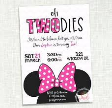 Free Minnie Mouse Birthday Invitations Custom Minnie Mouse Birthday Invitations Abhishekshetty