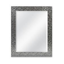 silver mosaic tile framed mirror large rectangular elegant bathroom vanity wall