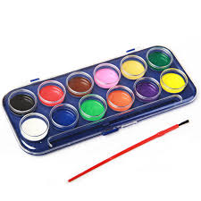 painting tool 12 colors high quality paint with 1 watercolor brush kids drawing set for school art supplies 1 set in acrylic paints from office school