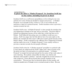 explain the effect a modest proposal by jonathan swift has on document image preview