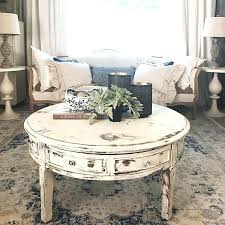 28 inch round coffee table coffee table white distressed round living room on intended for design