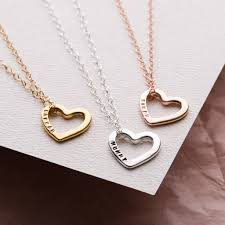 personalised love heart necklace