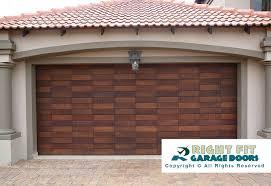 double domino wooden garage door
