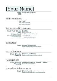 Word 2007 Resume Template – Lifespanlearn.info