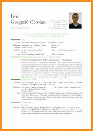 Famous Curriculum Vitae Template Filetype Doc Images Entry Level