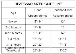 Average Head Size Chart 13 Perspicuous Crochet Baby Headband Size Chart