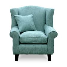wingback chair. Artemis Duck Egg Fabric Wingback Chair N