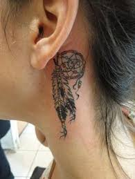 Dream Catcher Tattoo Behind Ear Franzi Anschütz Anschuetz100 On Pinterest 57