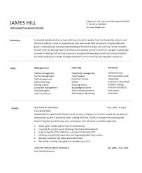 Restaurant Assistant Manager Resume Job Responsibilities Duties