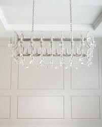 long crystal chandelier