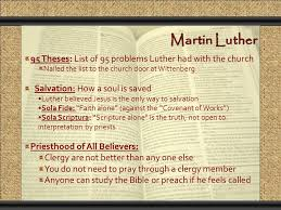 the reformation comunicacion y gerencia problems the  4 martin luther 95 theses list