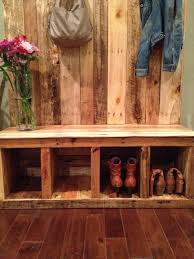 Entryway Coat Rack And Storage Bench Entry storage bench rustic entryway benches pallet entryway bench 35