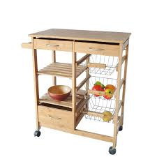 astounding 2 drawers kitchen utility cart with wire shelf basket and wooden shels also big chest