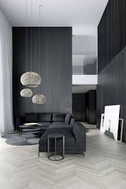 Easst.com / Living room / double height space with black wood walls and  french parquet / All rights reserved. 2015 www.easst.com | Pinterest |  Black wood, ...