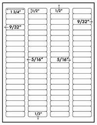 Avery 1 2 X 1 3 4 Template 1 600 Labels 1 3 4 X 1 2 Inch Glossy Silver Metallic Foil Laser Only Use Avery 5167 5267 Template 80 Labels Per Sheet 20 Sheets