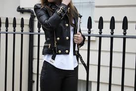 leather jacket balmain x h m